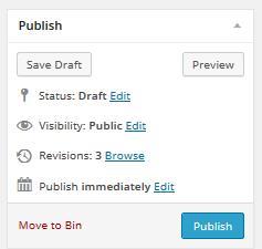 Save Draft WordPress Post