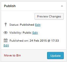 Update Post in WordPress