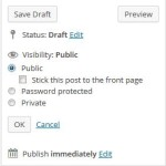 WordPress Post or Page Visibility