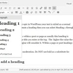 Headings in WordPress