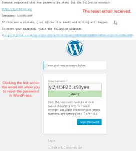 Reset Password in WordPress